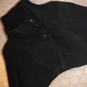 Zara Black bolero with a funnel neck and buttons